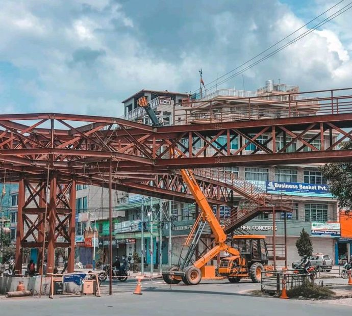 Pokhara's first overhead bridge: 85% completion of work