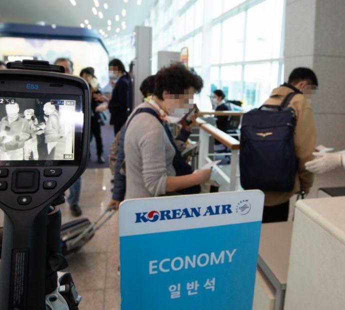 Korean Air conducts temperature checks for all flights departing Incheon