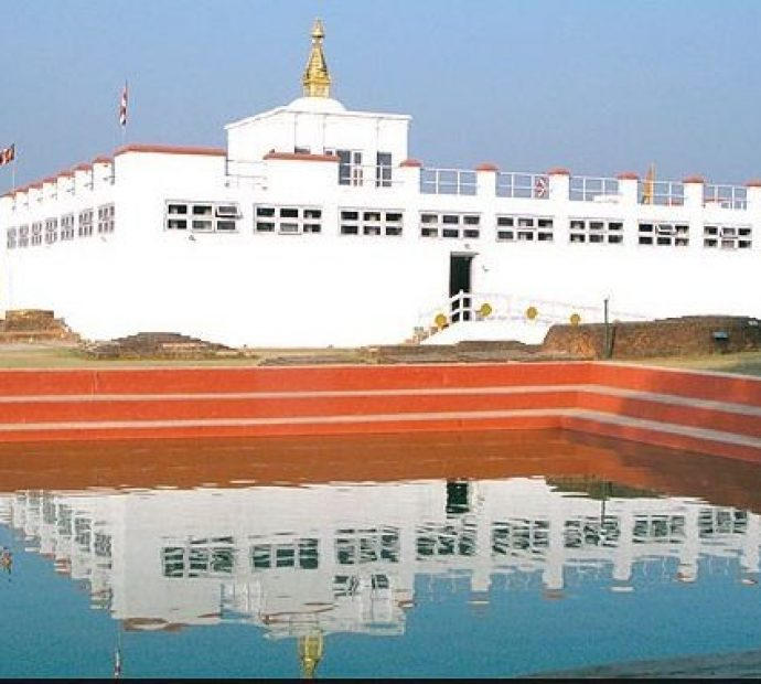 Lumbini being decorated for Tripitaka recitation programme