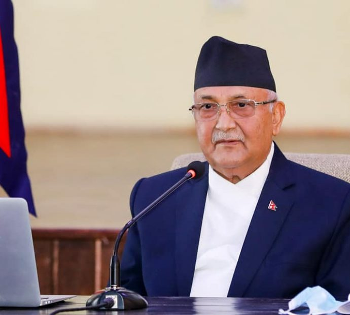 PM Oli lays foundation stone for 165 road projects