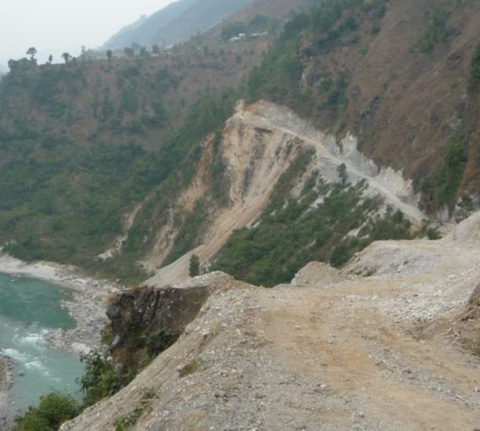 Three corridor fast-track roads under construction in Panchthar