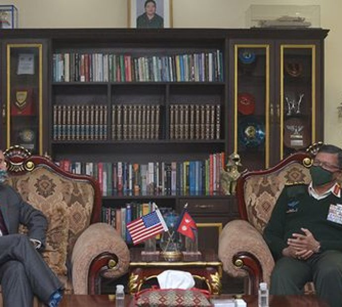 American Ambassador Berry pays courtesy call on CoAS Thapa